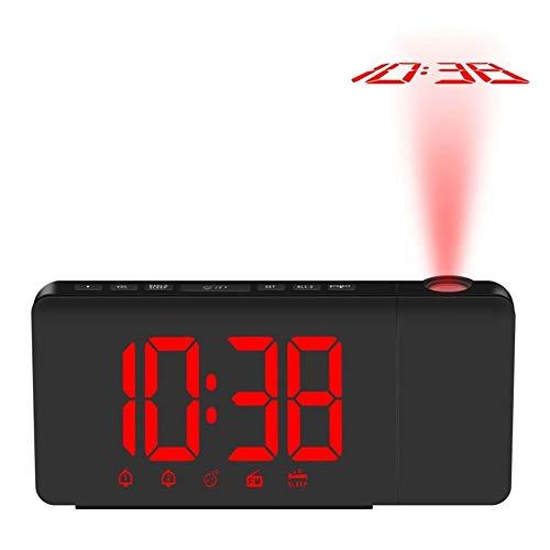 GZSC Reloj Despertador Proyección USB Reloj Despertador Pantalla ...
