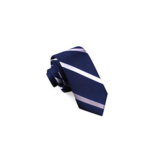 WYJW Business Hochzeit Job Anzug Koreanische Version Polyester Multicolor Optional Pfeilförmig, 6,5 * 140 cm (Farbe: Blaue und weiße diagonale Streifen) - Blau Diagonale Streifen-krawatte