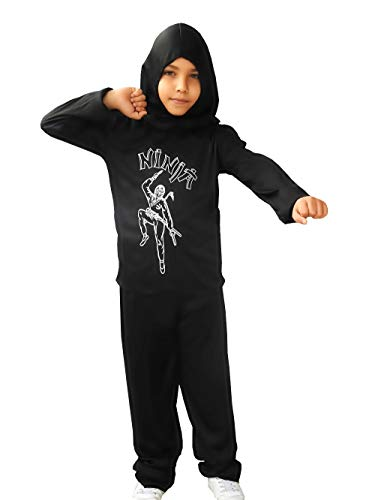 Inception Pro Infinite Taglia M - 5 - 6 Anni - Costume - Guerriero Ninja - Bambino - Travestimento - Carnevale - Halloween - Cosplay