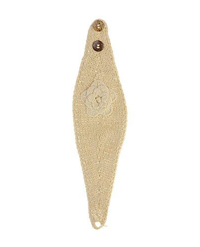 Bandeau d'hiver tricoté à la main avec fermeture à bouton. Produit offert par NYFASHION101 . NAG11Y Naturel