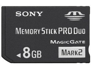 8 GB Sony PRO DUO (Mark 2) Memory Stick for PSP