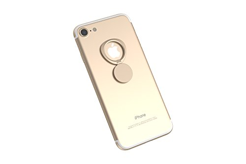Kronya | 360° drehbarer Smartphone Fingerhalter | Auto Finger Fitness Griff Halter Halterung Handy Ring Ringhalter Sport Ständer Tablet Apple iPhone iPad 7 8 10 X Samsung Galaxy S8 2 (Gold)