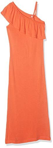 NAME IT Mädchen Nkfhappy Sl Maxi Dress Kleid, Orange (Emberglow), (Herstellergröße: 146)