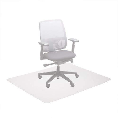 Relaxdays Bürostuhlunterlage 120 x 150 cm, Kratzfeste PE Bodenschutzmatte, schalldämmende Unterlegmatte für Büro, weiß