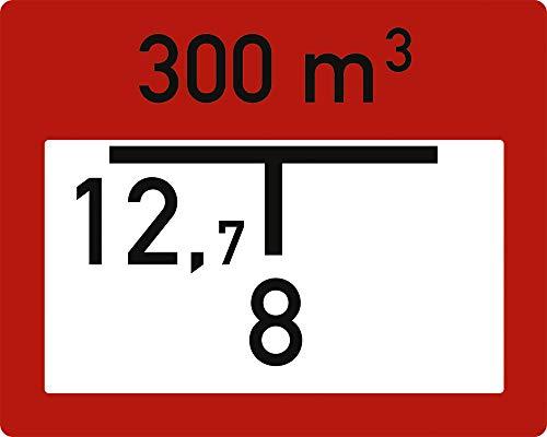 Schild Löschwasserbehälter (B2) mit Ihren Abstandsangaben Alu 2 mm, 20 x 25cm -