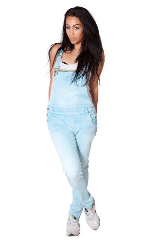 Leichte Latzhose - Hellblau Overalls für damen denim jean mode WOM106-D W28 / UK10