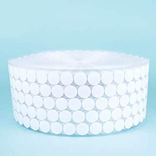 450 Pairs 10mm Nylon Self Adhesive Sticky Back Round Coins Fasteners Hook and Loop Dots Fastener Tape for School Office White Kangkang