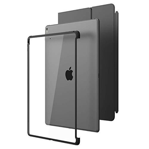 i-Blason iPad Pro 12,9 2017 Hülle, Kratzfest Schutzhülle Transparent Case Hard Back Cover für Apple iPad Pro 12.9 [Kompatibel mit Smart Cover und Smart Keyboard], Schwarz