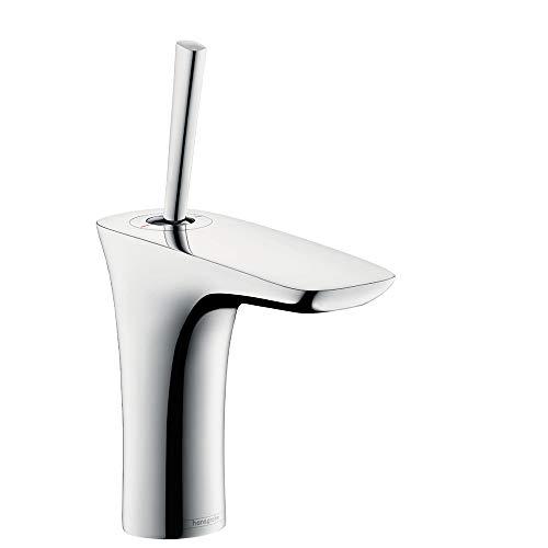hansgrohe PuraVida Einhebel-Waschtischmischer, Komfort-Höhe 110mm mit Push-Open Ablaufgarnitur, chrom