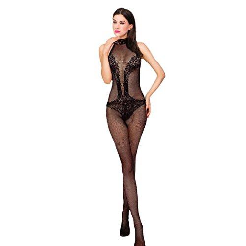 Preisvergleich Produktbild Sunheit Reizwäsche Transparent Damen Dessous Netz Ganzkörper Erotik Wäsche für Frauen