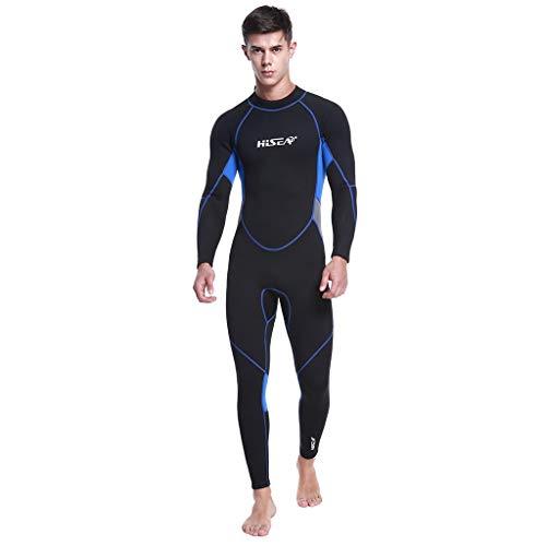 LOPILY Herren Sommer Surfbekleidung Wakeboarding Wetsuit 3MM Ganzkörperanzug Wassersport Anzug Neoprenanzug Schwimmanzug Surfanzug Schnelltrocknend Sonnencreme(X1-Schwarz,M)