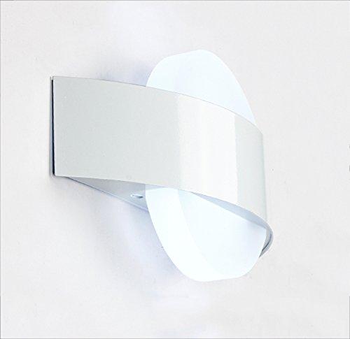 Moderne minimalistische LED Korridor Schlafzimmer Gang Wandleuchte (Farbe : Weiß)