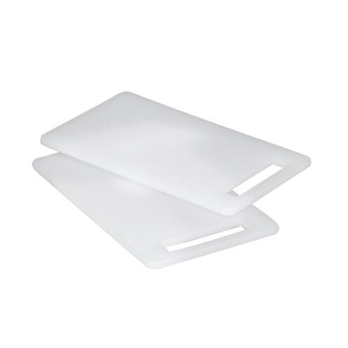 Zeller 26051 Schneidebrett, 2-er Set, Kunststoff 25 x 15 cm, weiß