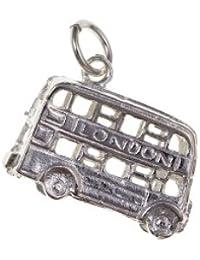 925. Pulsera de plata de ley collar del encanto del autobús de Londres