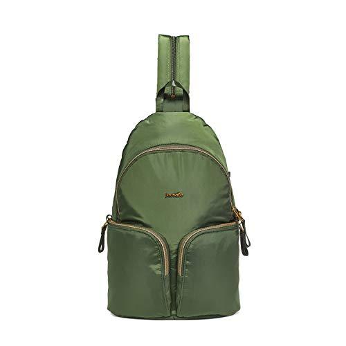 Pacsafe Stylesafe Sling Backpack, schlanker Rucksack für Damen, Zwei- und EIN- Riemen Schulterrucksack, Daypack mit Diebstahlschutz, Siche...