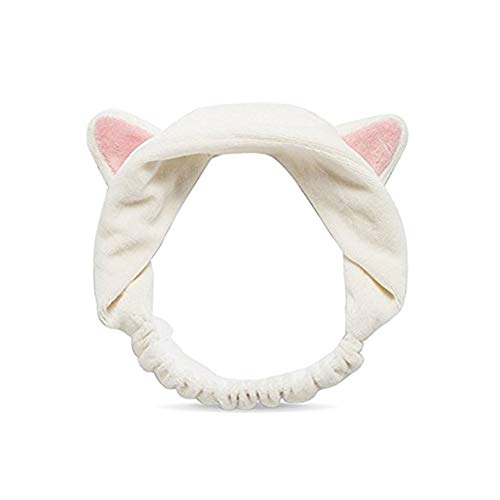Deanyi Nette Katze-Ohr-Haar-Band-Make-up Gesichtsreinigung Haarreif Super Soft Elastic Haarband für Frauen Mädchen