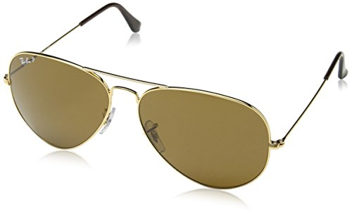 Ray Ban Aviator Polarized Sonnenbrille (Braun)(RB3025 001/57 62)