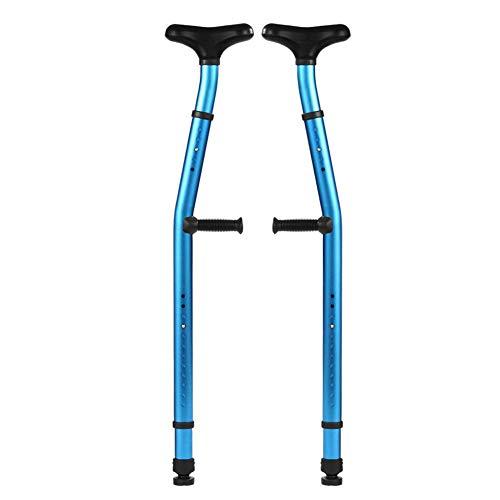 Unterarmkrücken (1 Paar) Ergonomische Krücken Kreuzfraktur Des Unterarms Medizinische Höhenverstellung Rutschhemmung Erwachsene Kinder Behinderte Stick Arm Alloy Erhöhte Rutschhemmung Matte,Blue