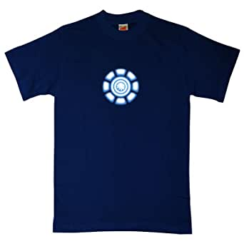 Refugeek Tees - Hommes Power Coil Chest T Shirt - Small - Navy