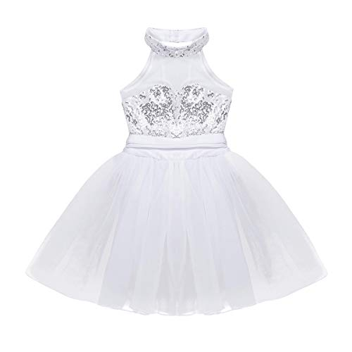 Alvivi Maillot Ballet Niña Tutú Vestido Falda Lentejuelas