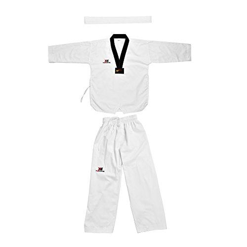 Kampfsportanzug Weiß Erwachsene Kinder Taekwondo Anzug Uniform, voller Baumwolle Tai Chi Taekwondo Kleidung Anzug Uniform Sportwear Martial Arts Karate Kostüm für Erwachsene & Kinder(190) -
