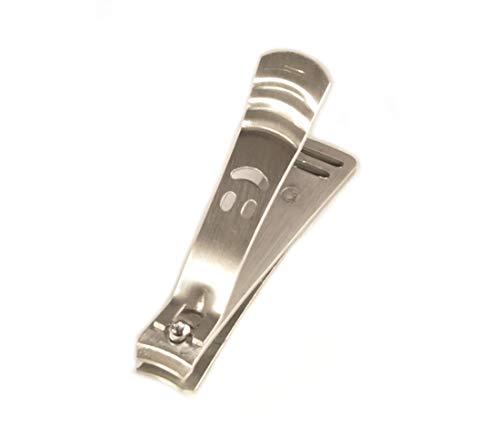 Witziger robuster Nagelknipser mit Smiley für Fingernägel & Fußnägel, Edelstahl rostfrei, Nagelzwicker, Nagelschneider, Nagelklipser, Nagelclipser, Nagelclipper - hochwertig (Nagelknipser Groß 8 cm)