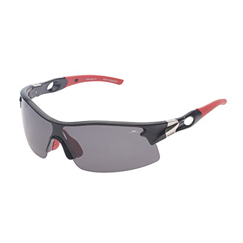 Vast polarized Sports Unisex Sunglasses (Polo_63018_C1_BlackRedTips|60|Grey Lens)…