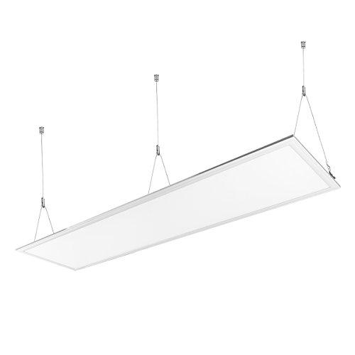 LE Plafoniera LED Pannello da 36W, Pari a neon da 80W, 3200lm Luce Incasso Sospensione Bianca Neutra 4000K 295 * 1195mm