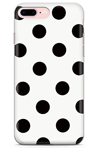 iPhone 7 Plus / 8 Plus Fresco Blanco del Lunar Funda de Teléfono de Goma Cover Moda Linda Tendencias Chicas Estilo
