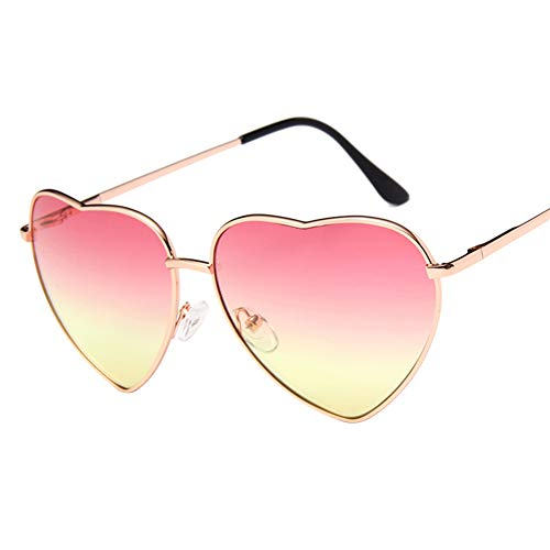 Haodou Pfirsich Herz Gläser Ozean Objektiv Frauen Nette Sonnenbrille Liebe Dekorative Geformte...
