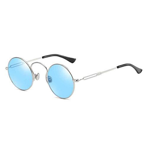 Inlefen Runde Sonnenbrille Vintage Style Eyewear für Männer, Frauen