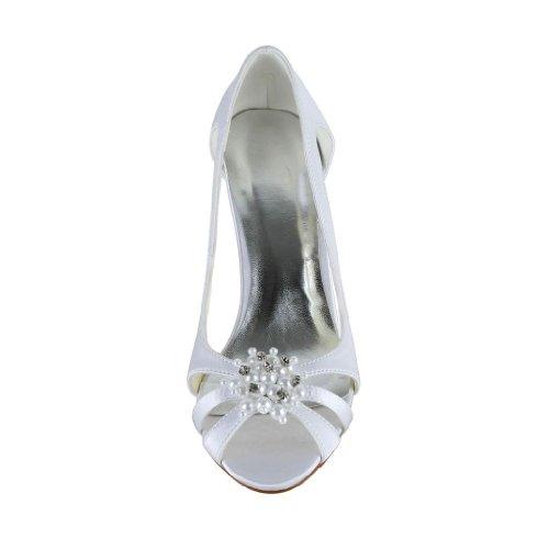 Jia Jia Wedding 5949414A Scarpe Sposa Scarpe col tacco donna Bianco