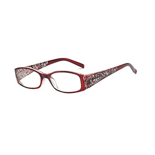 MUCHAO Retro Drucken lesen Brille Männer und Frauen Mode Lesebrille