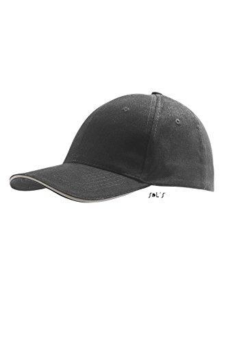 Sols - Buffalo - 6 Panel Baseballcap , Dark Grey / Light Grey , UNIQUE one size,Dark Grey / Light Grey - 6 Buffalo