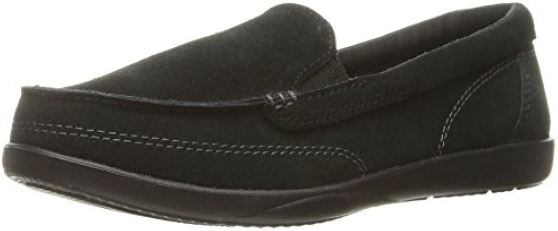 Zapatillas crocs de mujer Walu II Suede Loafer, negras, 5 M US