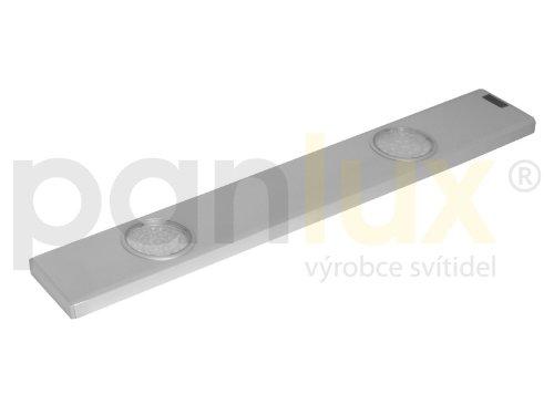 panlux bl224t/CH daeron 2x 24LED Cuisine Lampe 3000K, métal, 6,8W, Argent, 50x 6,8x 1,6cm