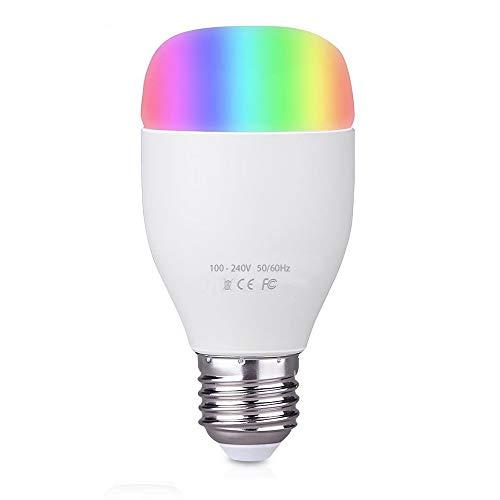 Bresuve Smart LED Wi-Fi E27 Glühbirne, Dimmbar Farbwechsel RGB Kaltweiss Glühbirne Kompatibel zu Amazon Alexa[Echo, Echo Dot] und Google Home, Smartphone App Android iOS, Einstellbare Farbtöne, 6W