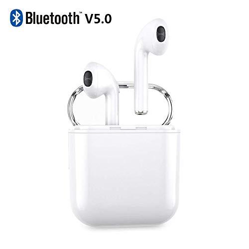 I8x auricolare bluetooth, v5.0 cuffie senza fili bluetooth, stunning stereo, con microfono e scatola di ricarica, per iphone samsung e altri smart phone