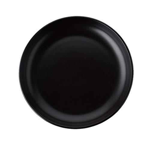 Assiettes à assiettes (10 pouces) Assiettes à dîner Assiettes à soupe en porcelaine Craft Black (Couleur : NOIR, taille : 10-inch)
