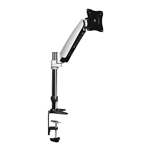 Auna LDT04-C011 Monitorhalterung Tischhalterung mit Kabelführungssystem (90° Schwenk / 360° Dreh / 130° Kippbereich, höhenverstellbar 0-30cm, bis 9kg/Monitor)