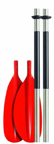 ● Se puede desmontar encuatropartes para facilitar el estibaje. ●Diámetro del tubo 29 mm, con un grosor del aluminio de 1,2 mm. ●Peso: 1130 gr Longitud total Longitud en 4 partes 200 cm 55 cm 210 cm 60 cm 220 cm 65 cm 230 cm 70 cm