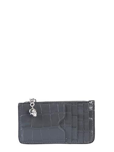 Alexander McQueen Luxury Fashion Donna 5541991JM0I1243 Grigio Portafoglio | Autunno Inverno 19