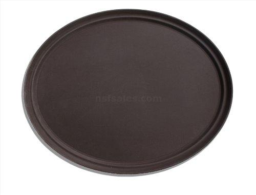 New Star Foodservice 25545Rutschfestes Tablett, Kunststoff, Gummi gefüttert, oval, 55,9x 68,6cm, braun Winco Bar