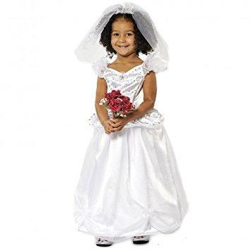 Kostüme Kind Braut Schöne (Mädchen Kids Princess Bride Wedding Dress Costume 5-7)