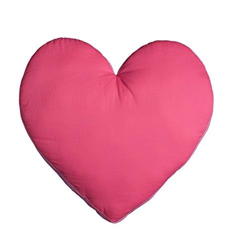 Cojín en forma de corazón color fucsia