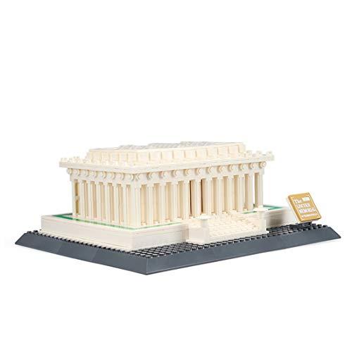 K9CK Architektur Modell-Set, 3D Puzzle Lincoln Memorial Bausteine Architektur Spielzeug Kinder und Erwachsene Kreative Modell Kit für Puzzle-Liebhaber, 979 Teile