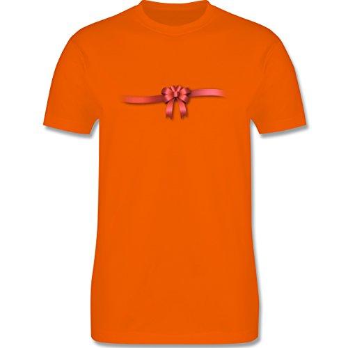 Valentinstag - Ich bin ein Geschenk - Schleife - Herren Premium T-Shirt Orange