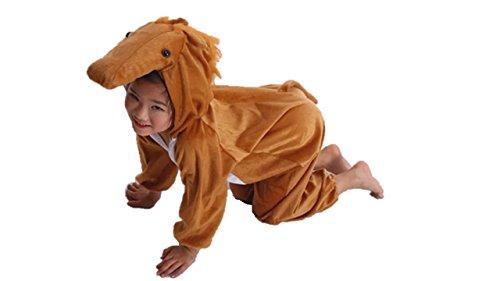 Kinder Tierkostüme Jungen Mädchen Unisex Kostüm Outfit Cosplay Kinder Strampelanzug (Pferd, L (Für Kinder 105 - 120 cm groß)) (Halloween-kostüm Pferd Kind)