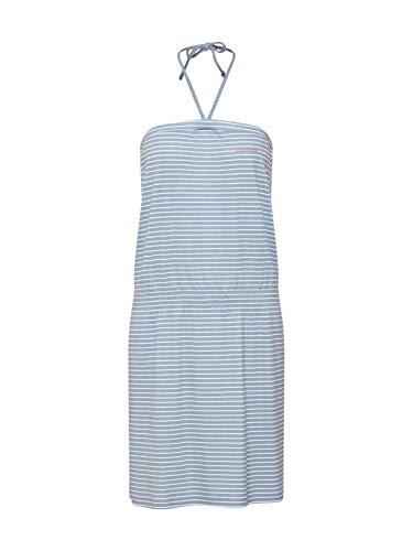mazine - Damen - Sommerkleid 'Roselle Dress' - Streetwear Fashion Jersey - Navy & White Striped - M -