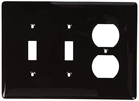 Hubbell Wiring Systems NPJ28 Nylon Combination Wall Plate, Mid-Size, 3